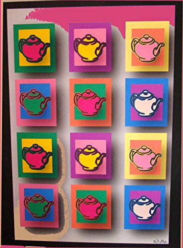 "Teapot Drawing Digital Print ""Teapots"" 13x19"