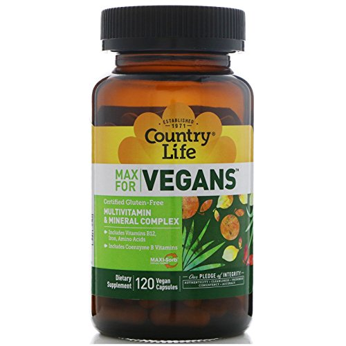 Country Life, Max for Vegans, Multivitamin & Mineral Complex, 120 Vegan Capsules