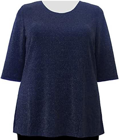 A Personal Touch Sapphire Sparkle Women's Plus Size Top