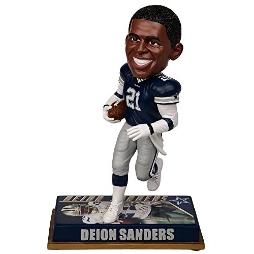 Forever Collectibles NFL Dallas Cowboys Mens Dallas Cowboys Bobblehead - 8 - Retired Player - Deion Sanders #20 - Special Order, Team Colors One Size