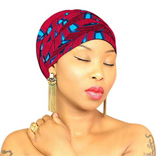 Chic Collection Beautiful Head Wrap Wax Print Ankara Head Scarf Hijab Kente Handmade African Head -