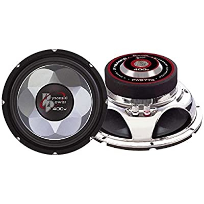 "6"" Car Audio Speaker Subwoofer - 300 Watt High Power Bass Surround Sound Stereo Subwoofer Speaker System w/ Molded P.P. Cone, 86 dB, 4Ohm, 40 oz Magnet,1 inch KAPTON Voice Coil - Pyramid PW677X: Car Electronics"