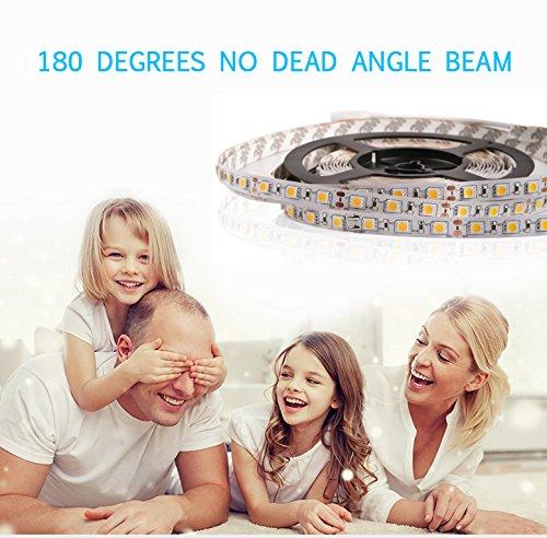 LEDMO LED Strip Light, DC12V LED Light Strips,Non-Waterproof,300Leds,Warm White 2800K,16.4Ft