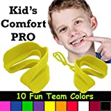 Kid's Comfort PRO Youth Double Sports Mouth Guard Wear with or Without Braces (Yellow)