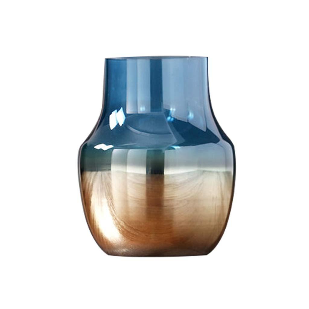 MAHONGQING 現代のミニマリスト透明なガラス花瓶クリエイティブグラデーションホームフラワーアレンジメントフラワーデコレーション飾り B07SYJXWN3