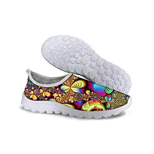 Para U Diseños Zapatillas Deportivas De Malla Cómodas Y Livianas Con Estilo Para Mujeres Amarillas