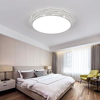 ZHUDJ Deckenleuchte Schlafzimmer Licht Led Wohnzimmer Lampe Runden ...