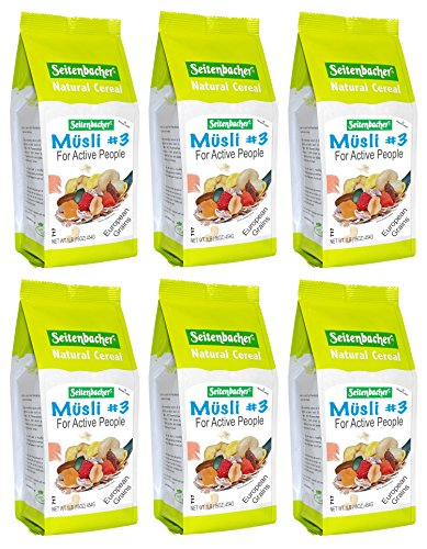 Seitenbacher Muesli Cereal #3 - For Active People - Fruit Mix 16 Ounce (Pack of 6)