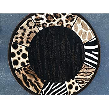 Amazon Com Animal Skin Leopard Zebra Tiger Border Print
