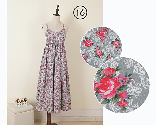 Women's Flower Spaghetti Strap Beach Rose Peony Print Floral JIANLANPTT Casual Sexy Dress 7wq4dPFd