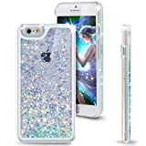 "iPhone 6S Case, ikasus(TM) iPhone 6S Case 4.7"",Liquid Case for iPhone 6S,Case for iPhone 6S,Hard Case for iPhone 6S, Fashion Creative Design Flowing Liquid Floating Luxury Bling Glitter Sparkle Love Heart Hard Case for Apple iPhone 6S (2015)/ iPhone 6 (2014) (Love:Blue)"