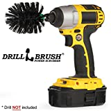 Drillbrush Mini Size Nylon Bristle Motorized Spinning Battery Powered Electric Grill Cleaning Brush, Bristles are Safe for Consumption, The Best Way to Clean Your Barbecue Grill