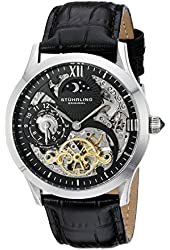 Stuhrling Original Men's 571.33151 Classic Winchester Tempest II Skeleton Black Dial Watch