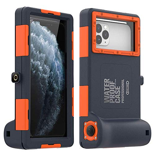 Underwater Photography iPhone Samsung Case,[50ft/15m] Universal Diving Housing for iPhone 11 Pro Max 10 XS Max XR X 8 7 6S Plus Samsung Galaxy Note10+ 10 s9 S9+Up to 6.8