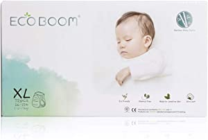 ECO BOOM Bamboo Biodegradable Diapers Organic Softness Bamboo Pants Baby Diaper Training Pants for Baby Size XLarge 72 Count-Pack
