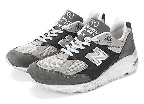 New Balance Mens 990v2 Made In Us Sneakers, M990xg2, Silver Visk / Magnet (us 9.5 D (m))