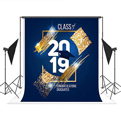 5 x 7ft Graduation Party Photography Backdrops Class of 2019 Prom Party Photo Studio Booth Background Props -