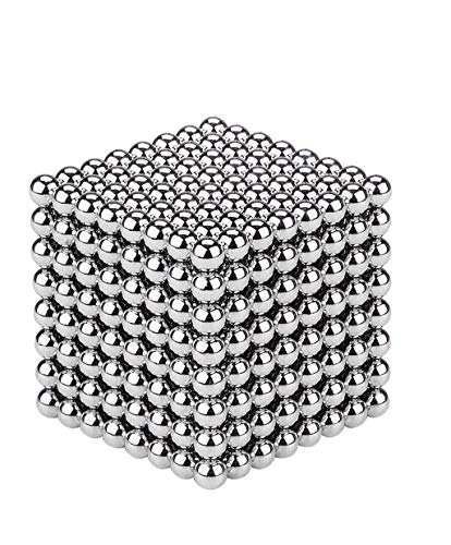 512 Square - RLRY Upgraded Magnetic Cube 3mm 512 Pieces Silver Magnets Blocks Children's Puzzle Square Cube Magnets Toy Stress Relief Toys for Kids