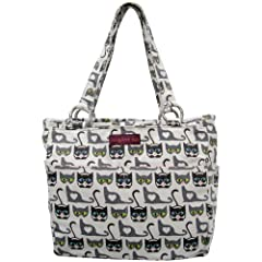 Tote your stuff in style with the Bungalow360 Pocket bag! The Bungalow360 Pocket Bag features a center zipper closure with signature peace sign zipper pull. The center interior opening has a zippered side pocket and two smaller slip-ins. The ...