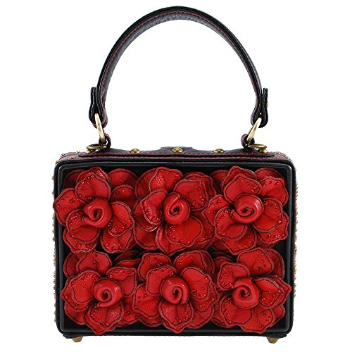 Story 3 Roses Multi Mary Bag Top Frances Love D Handle CqH66Etx