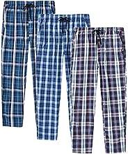 AjezMax Men's Pajama Bottoms Cotton Plaid Lounge Pants Long Sleepwear