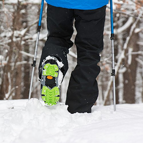 STABILicers HIKE XP, Made in USA, High Performance Snow and Ice Traction Cleats for Shoes and Boots, 25 Replacement Cleats Included, Gray/Green, Size XL by STABILicers (Image #2)