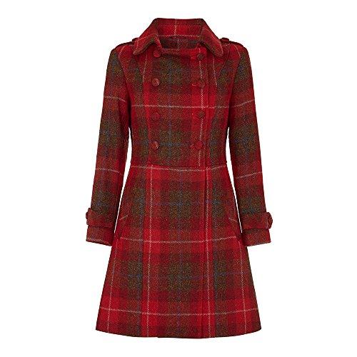 Oxfords Cashmere Ladies Harris Tweed Coat, Red, 8