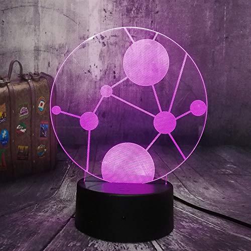 Visuelles Licht, Neuartige Künstlerische Kreis Universum 3D Nachtlicht Wohnkultur Schreibtisch Schlaflampe Kid Toys Als…