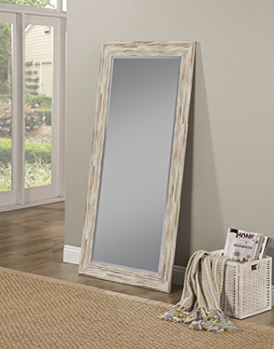 Sandberg Furniture Farmhouse, Full Length Leaner Mirror, Antique White Wash by Sandberg Furniture (Image #2)