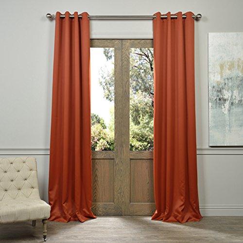 Half Price Drapes BOCH-201304-108-GR Grommet Blackout Curtain, - Prices Blaze