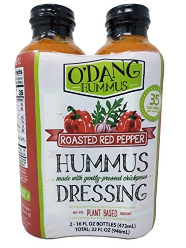 - O'Dang Hummus Dressing Roasted Red Pepper, Plant Based 16 FL OZ Each - 2 Pack