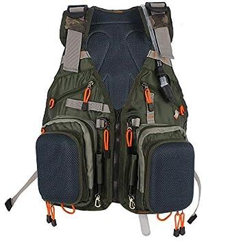 Kylebooker Fly Fishing Vest Multifunction Breathable Backpack Adjustable for Men and Women Vest Backpack Kayak Life Jacket PFD