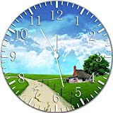 Country Road Sky Clouds Frameless Borderless Wall Clock W384 Nice For Gift or Room Wall Decor