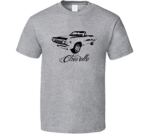 1967 Chevelle Convertible - CarGeekTees.com 1967 Chevelle Convertible Side View Model Name Light Color Shirt XL Sport Grey