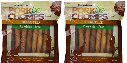 Scott Pet Products Pork Chomps Roasted Twistz Dog Treats Rawhide Free, Bundle of 2