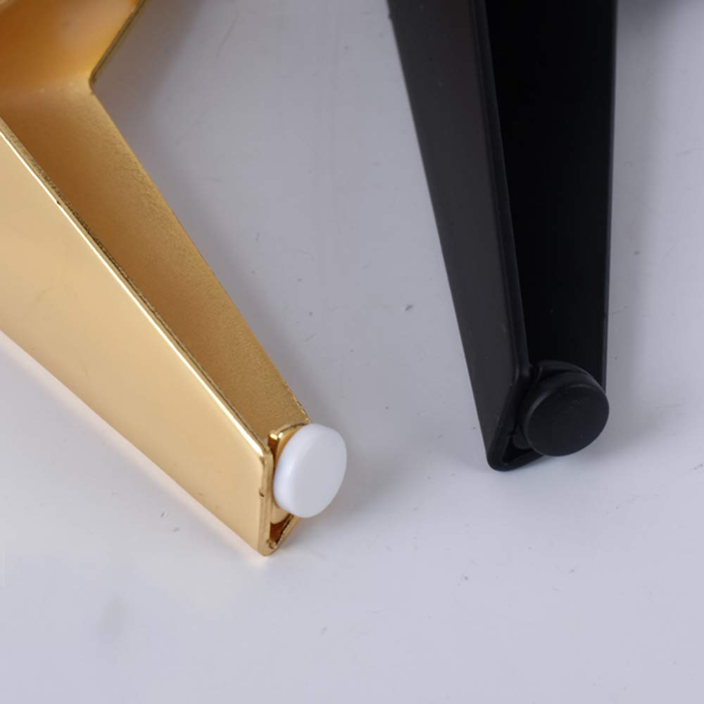JRPT patas de mesa 4Piece Furniture legs,Patas de muebles Hierro de 2,5 Mm de Espesor,S/ólido Proceso de Chapado Ahorra Espacio//dorado 15.7cm
