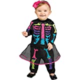 Fun World - Girl's Baby Skeleton Costume