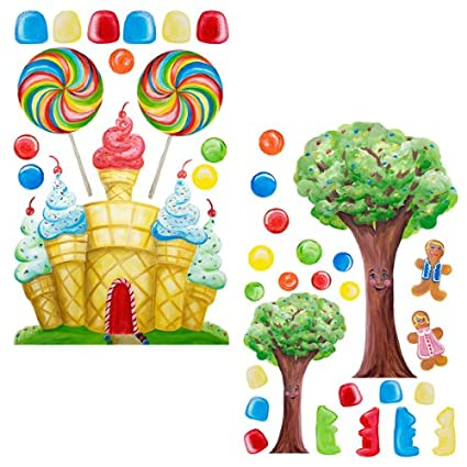 Amazon.com: Instant Murals Candyland Tree & Castle Wall Mural ...