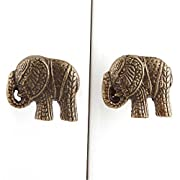 IndianShelf Handmade 6 Piece Iron Antique Elephant Artistic Designer Drawer Knobs/Cabinet Pulls