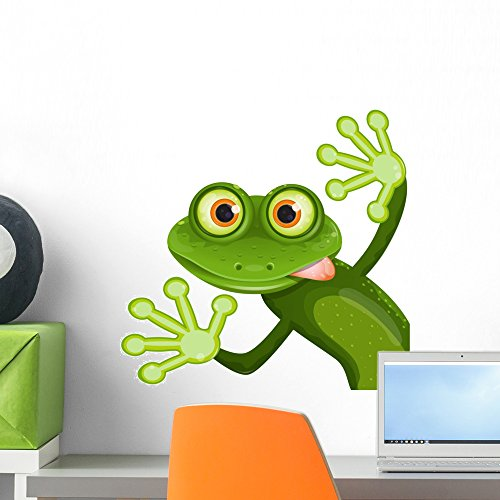 Wallmonkeys Frog Wall Decal Peel and Stick Graphic WM323350 (18 in W x 18 in H)