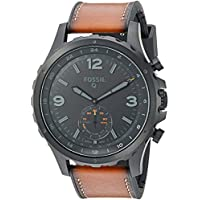 Fossil Q 50mm Nate Hybrid Smartwatch (Dark Brown/Leather Band)