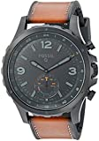 Fossil Hybrid Smartwatch - Q Nate Dark Brown Leather