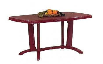 Gartentisch Steiner San Remo 150 X 90 Cm Klappbar Kunststoff Rot