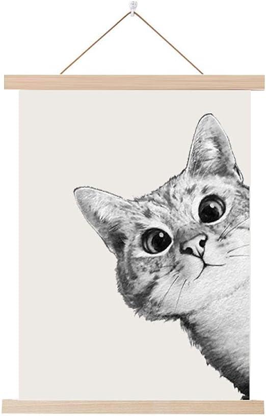 Gato de Dibujos Animados Lindo Pintura de Madera Dibujo de ...