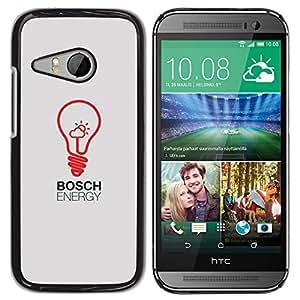 For HTC ONE MINI 2 / M8 MINI Case , Bulb Art Red Drawing Inspiration - Diseño Patrón Teléfono Caso Cubierta Case Bumper Duro Protección Case Cover Funda