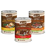 Merrick Chunky Canned Dog Food Variety Pack – 3 Flavors (12 Pack)