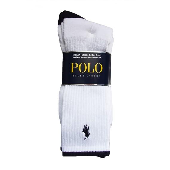 90280bd1b0 Ralph Lauren Polo Socks - Sports 3 Pack White  Amazon.co.uk  Clothing