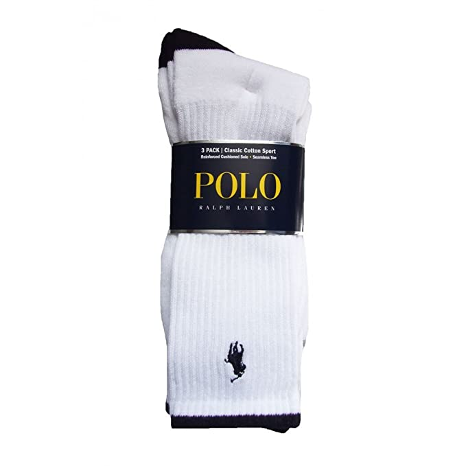 Ralph Lauren - Calcetines de deporte - para hombre blanco blanco: Amazon.es: Ropa y accesorios