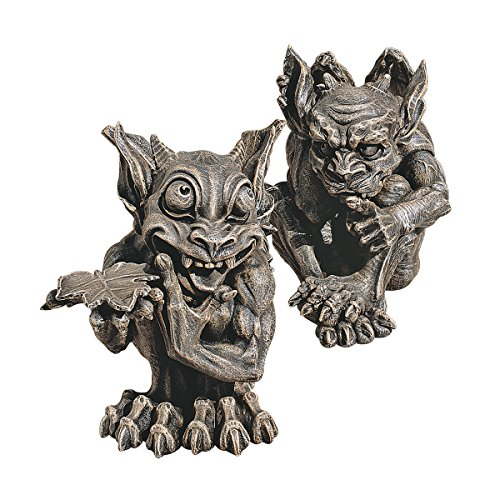 Design Toscano Babble and Whisper Gargoyle Statue (Set of -