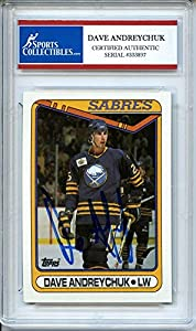 Dave Andreychuk 1990 O-Pee-Chee Buffalo Sabres Signed Trading Card - Certified Authentic